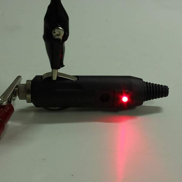 12V Mand Bil Cigarettænder / Stik / Stik 5A med LED & Sikring Bil Elektronik