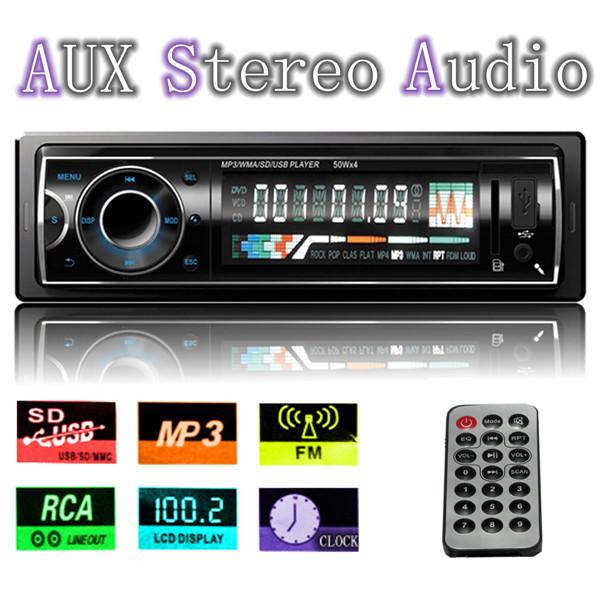12v Autoradio Headunit Radio Player MP3 USB SD AUX FM für iPod Autoelektronik