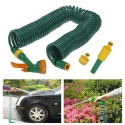 15M Coil Retractable Water Wash Slange med Spray Slange Og Stik