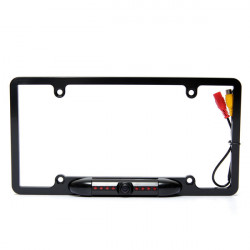 170 Degree License Plate Frame 8IR Night Vision Car Rear View Camera