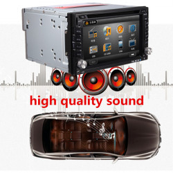 2DIN 6.2 Inch Stereo Audio Car USB SD DVD CD Player Bluetooth Radio Mp3 GPS