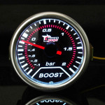 2 Inch Universal Car Red Led Boost Auto Gauge -1 to 2 Bar Meter Car Electronics
