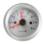 2 inch 52mm Blue LED Tacho 12V Tachometer Pointer Gauge Meter Car Electronics