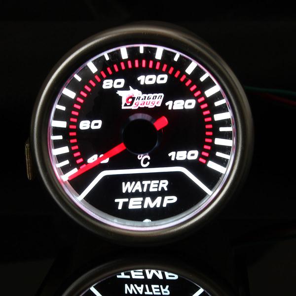 "2 "" 52MM Universalselbst rote LED Wassertemperatur Wagen Spur Meter Autoelektronik"
