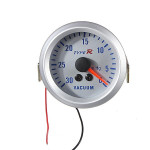 "2"" 52mm Silver Dial 12V Vacuum Gauge Pointer Meter Car Electronics"