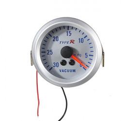 "2"" 52mm Sølv Dial 12V Vacuum Måler Pointer Meter"