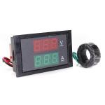 300V 100A LED Panel Digital AC verdoppeln Anzeigen Volt Ampere Meter Autoelektronik