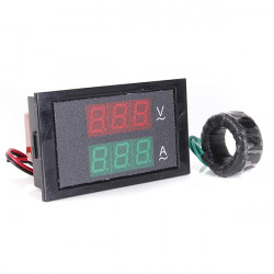 300V 100A LED Panel Digital AC Dual Display Volt Amp Meter