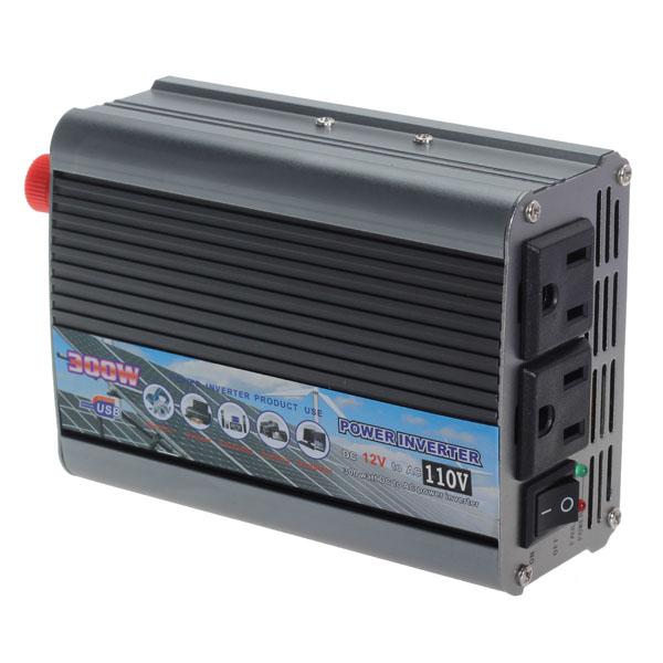300W Bil 12V til 220V Power Inverter USB Port Bil Power Konverter Bil Elektronik