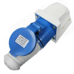 32A 3pin Plug Wall Mount Socket Vattentät 220v-250V IP44 2p