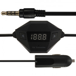 3.5mm FM Transmitter + Bil USB-laddare Radio Adapter för MP3 MP4