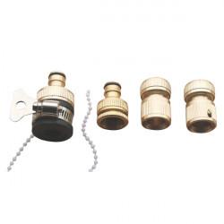 4x Schlauch Düse Steckverbinder Set Schnell Joint Wash Werkzeuge Zubehör
