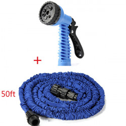 50FT Flexible Expandable Garden Car Water Hose with Grip Sprayer