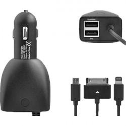 5.0V / 4800mA Sort Dual USB Power Adapter Biloplader til Mobiltelefon