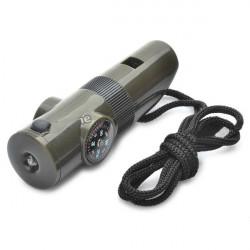1.7 Multifunktionsauto Taschenlampen Pfeife Mini Kompass mit LED Licht