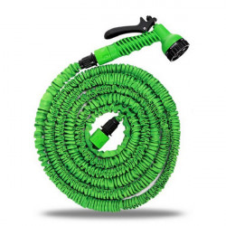75FT Green Garden Hose Reels for Car Water Pipe with Sprayer