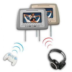 7 Inces Rest DVD-spelare Monitor Inbyggd IR FM-sändare CL-800D