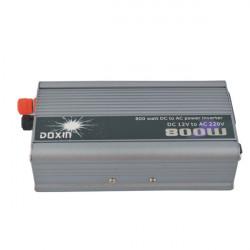 800W Car DC 12V to AC 220V Power Inverter -  Silver