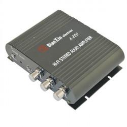 A-200 Hi-Fi Stereo Ljudförstärkare W / FM / SD / USB för Bil Black