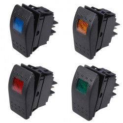 ASW-77D Car Modification Meter Switch With LED Lamp 12V 20A