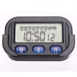 C61 Car Dashboard Desk Date Time Calendar Clock Digital LCD