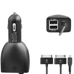 CC37-ITM 5.0V / 4600mA Sort Dual USB Power Adapter Biloplader
