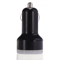 Car Cigarette Powered Dual USB Adapter/Charger for iPad(DC 12~24V)