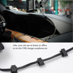 Car Cord Clip Wire Cable USB Charger Tidy Organizer Adhesive Clamp