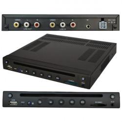 Bil DVD-spelare med DivX / AVI / DVD / VCD / MP3 / CD Inbyggd SD / USB-port