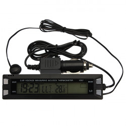 Bil Digital LCD-display Klocka Termometer Temperatur Hygrometer
