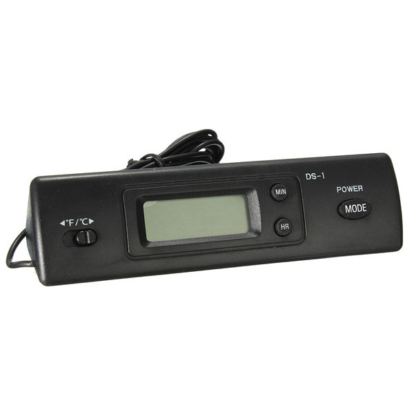 Car Digital Thermometer With ℃ and ℉ Two Probes Measuring Temperature Car Electronics