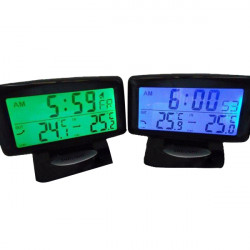Car In/Out Temperature Thermometer Auto Digital Clock Thermometers