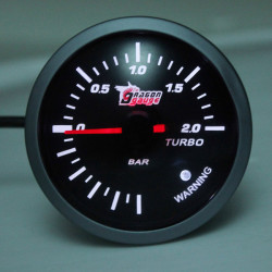 Car Motorcycle 60MM Boost Gauge 6161BB 50x43.5x43.5