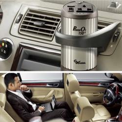 Bil Power Inverter med Oxygen Bar Ionizer12V til 220V Biloplader