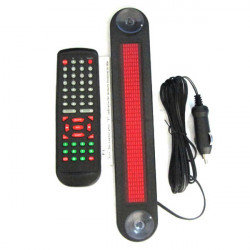 Car Red LED Programmable Message Scrolling Display Board With Remote