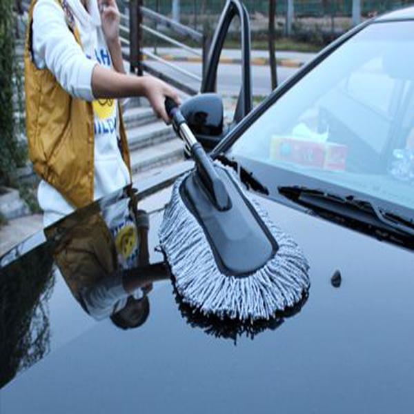 Auto Retractable Duster Nano Fiber Wachsmopp Auto Fahrzeugwasch Brusher Kfz-Wartung / Werkzeuge