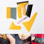 Bil Skrapa Fönsterfilm Tint Wrapping Scraper Rengöring Verktyg Kit Fordonsvård & Tillbehör