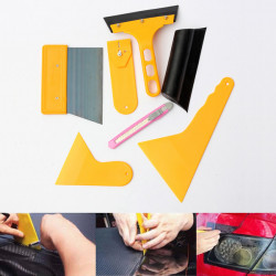 Car Squeegee Window Film Tint Wrapping Scraper Cleaning Tools Kit