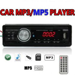 Bil Stereo Radio 1 Din i Dash SD / USB AUX FM MP3 MP5 Afspiller 12V 1131B