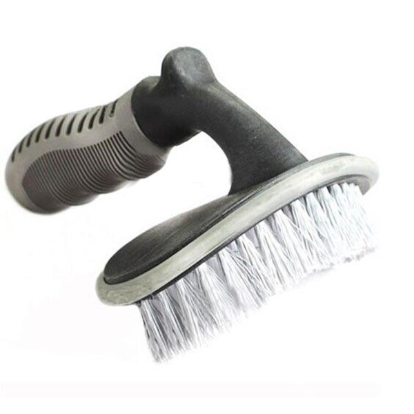 Car Dæk Brush Bil Wash Brush Removal Værktøj Curved Brush Bil Tire Tilbehør Bilpleje