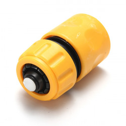 Car Washing Hose Pipe Water Stop Plastic Connector Yellow