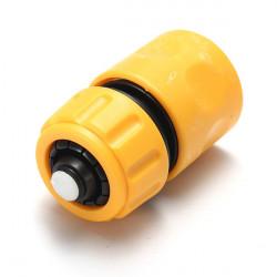 Biltvätt Slang Vatten Stop Plast Connector Yellow