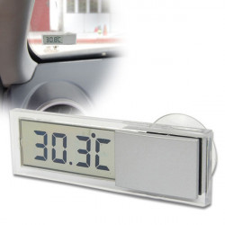 Car Windscreen Auto Rear View Mirror Digital Display Thermometer
