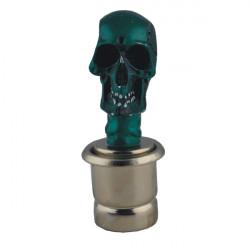 Cool Skull Head Style Bilens Cigarettænder - Blå Sølv (DC 12V)