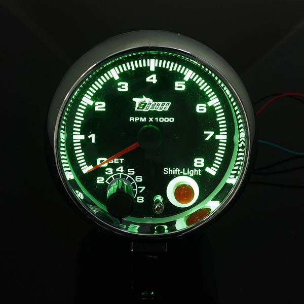 """DC12V 3,75"""" Tacho mit Schaltleuchte RPM Rev Lehren Messinstrument Autoelektronik"""