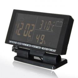 Digital Car Thermometer Hygrometer Calendar Clock Weather Forecast