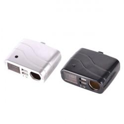 Doppel USB Anschluss Kfz Ladegerät Zigarettenanzünder Digitalanzeige