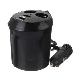 Dobbelt Bil Cigarettænder DC Power Adapter Oplader Splitter