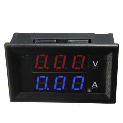 Dual Red Blue LED Digital Voltmeter Ammeter Panel Volt Gauge Meter