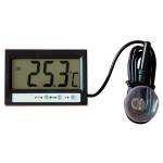Hushåll LCD Display Digital Termometer Klocka Fordon Temperatur Bilelektronik